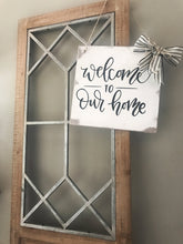 Load image into Gallery viewer, Welcome To Our Home Sign-Sign With Ribbon