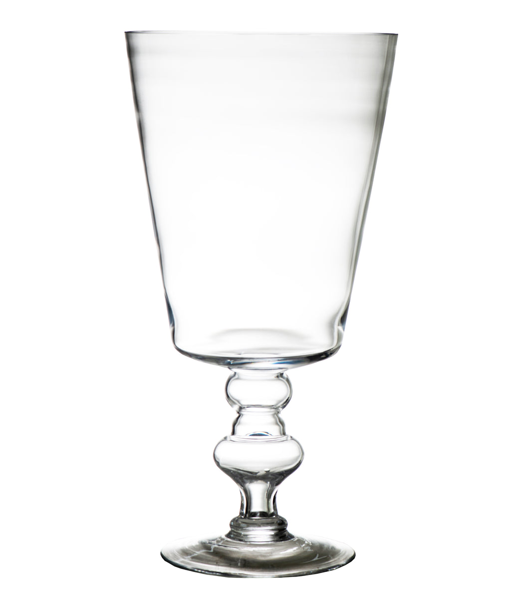Classic Glass Vase, Giant Chalice Shape