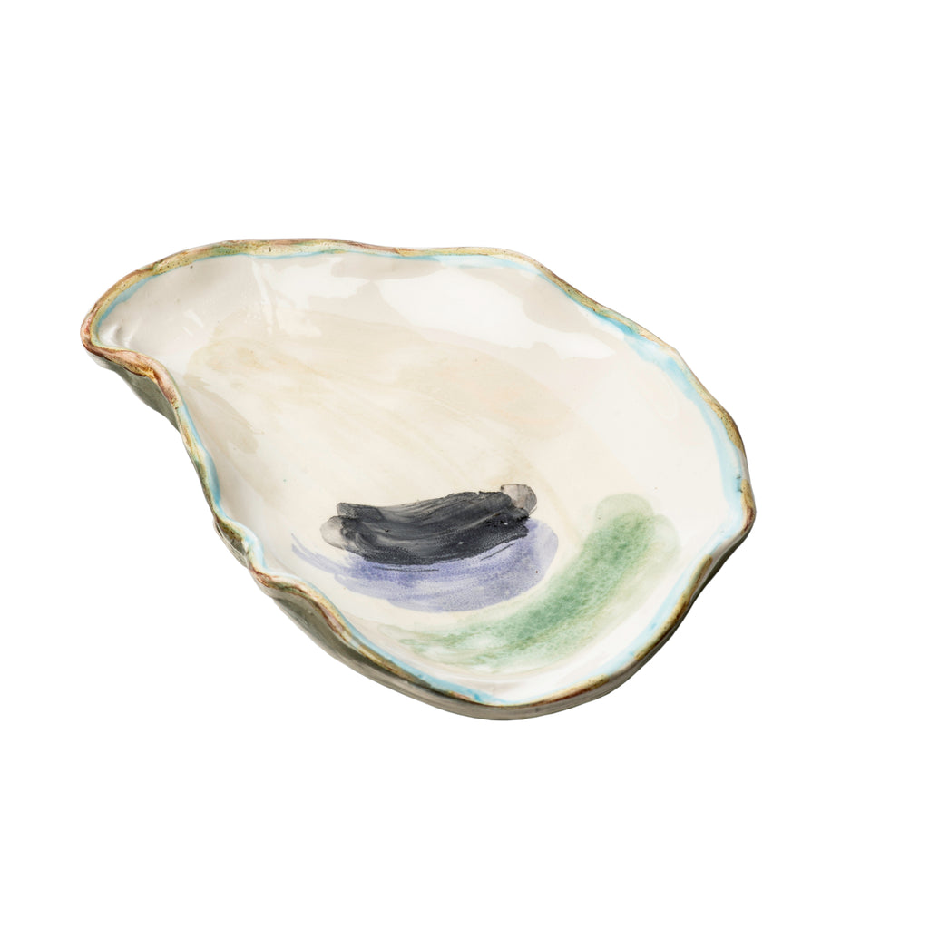 Seaside Oyster Plate, Small, Set of 4