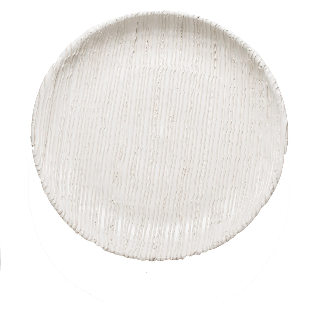 260140 Abigails Wholesale Home Décor Ceramics and Terra Cotta Plates Alpine Plate White Alpine