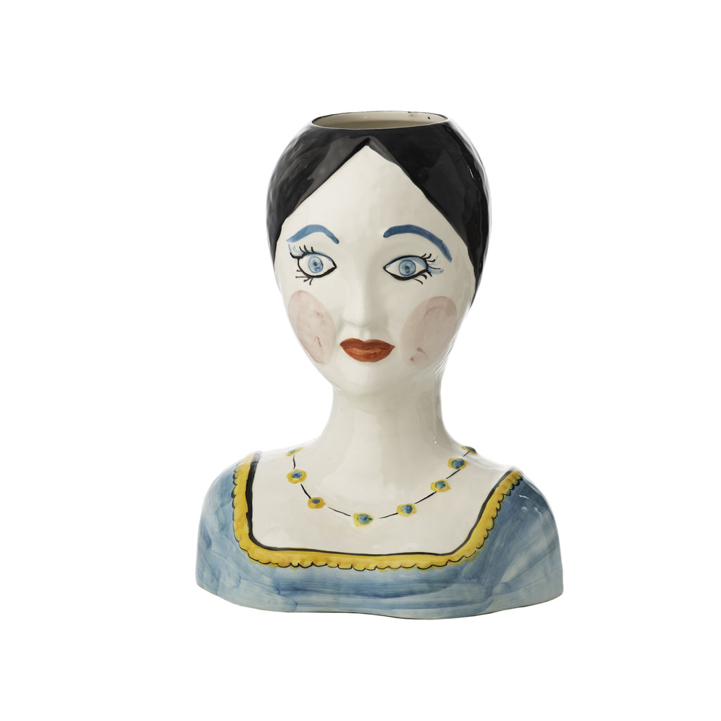403411 Abigails Wholesale Home Décor Ceramics and Terra Cotta Vases Evangeline Painted Head Vase*