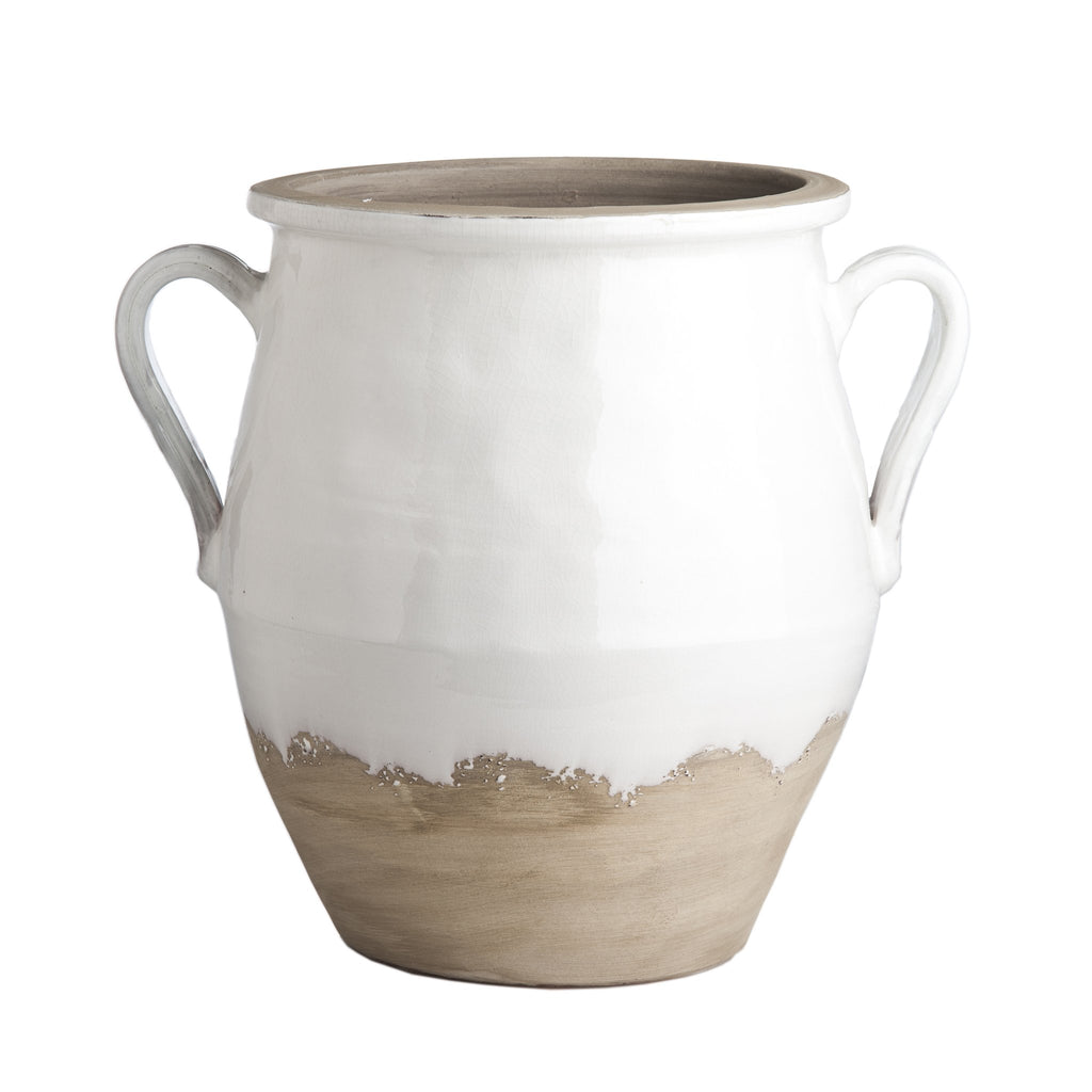 717816 Abigails Wholesale Home Décor Ceramics and Terra Cotta Accessories Large Terracotta Jug White