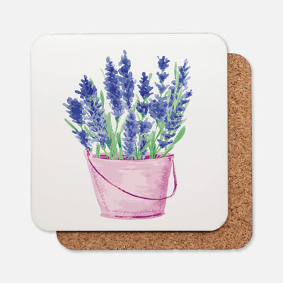 SET OF 4 Coasters with Lavender