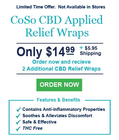 Order now and receive 2 additional CBD Relief Wraps Free