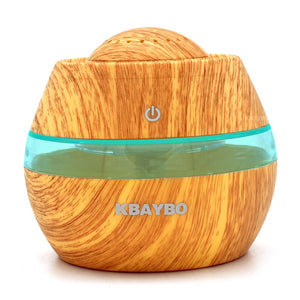 FREE 300ml Aromatherapy Essential Oil Diffuser Portable For Car - Wood Grain
