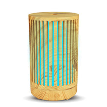 Load image into Gallery viewer, 100ml Air Humidifier wood Hollow cylinder Electric Essential Oil Diffuser