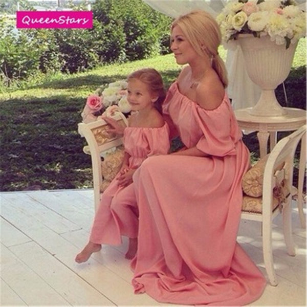 Elegant Mother Daughter Beach Dress
