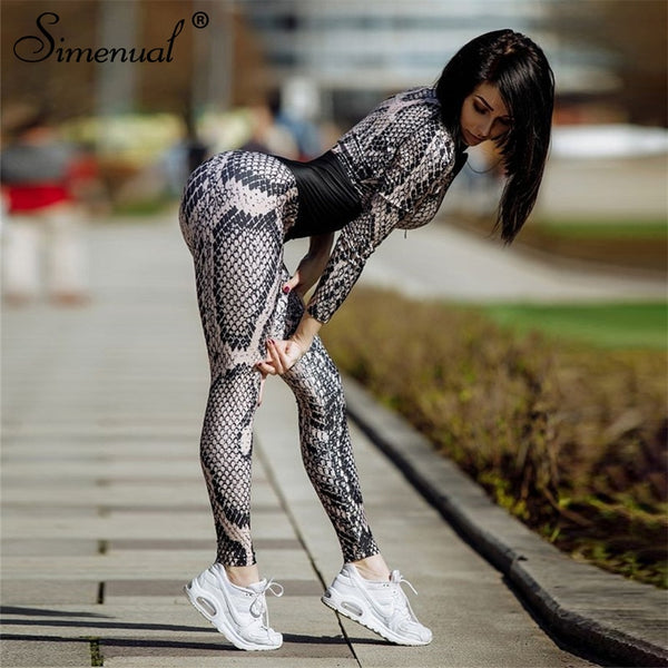 Gym jumpsuits Snake print