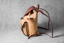 RETRO MOTORCYCLE BACKPACK MINI - camel