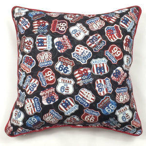Route 66 Signs Square Pillow - TLC Patterns