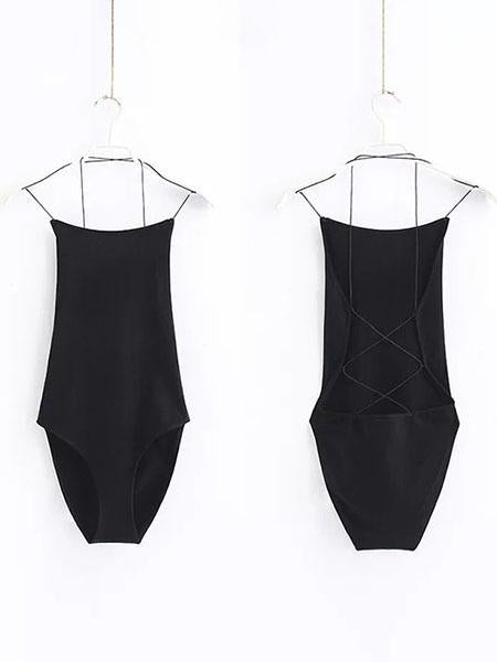 2019 New Fashion Summer Spring Sleeveless  Women's Bodysuits Cotton Playsuits Jumpsuits Rompers