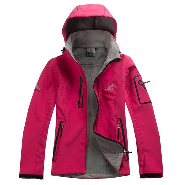 Women Waterproof Breathable Soft-shell Outdoor Sport Jacket