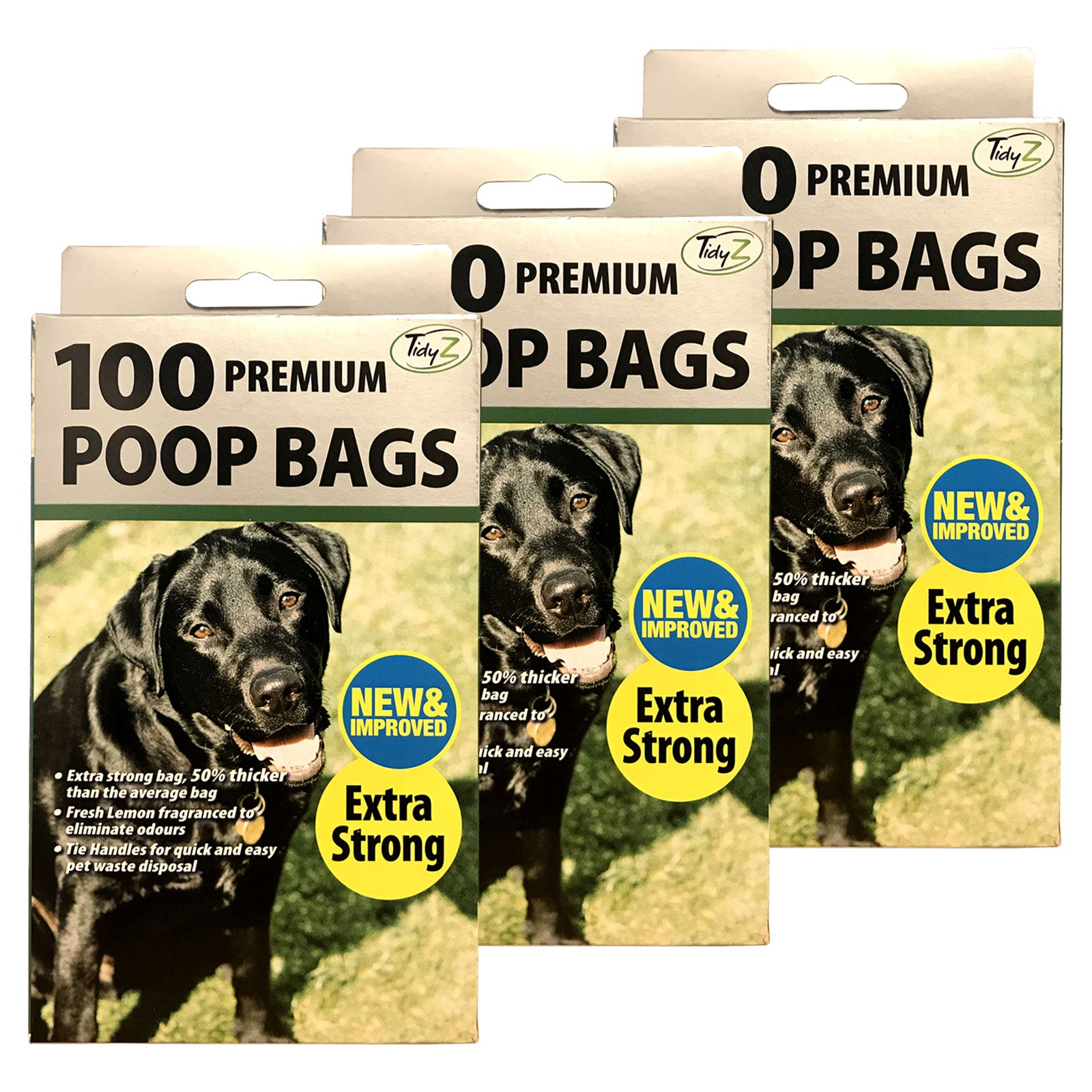 TidyZ 100 Premium Doggy Bags Extra Strong Fragranced Dog Cat Pet Poo Waste Bag