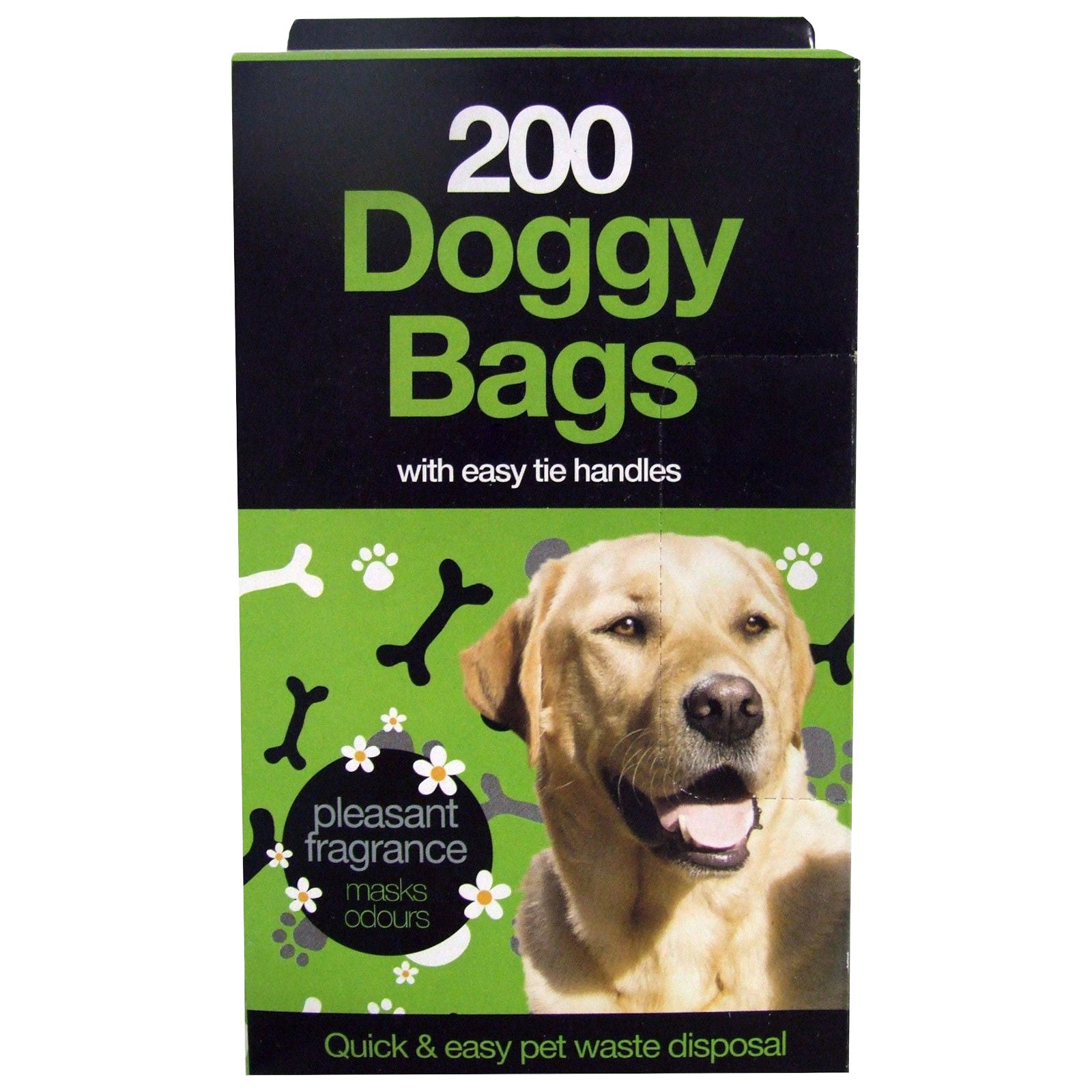 TidyZ 200 Tie Handle Doggy Bags New Improved Fragranced Dog Poo Waste Bags