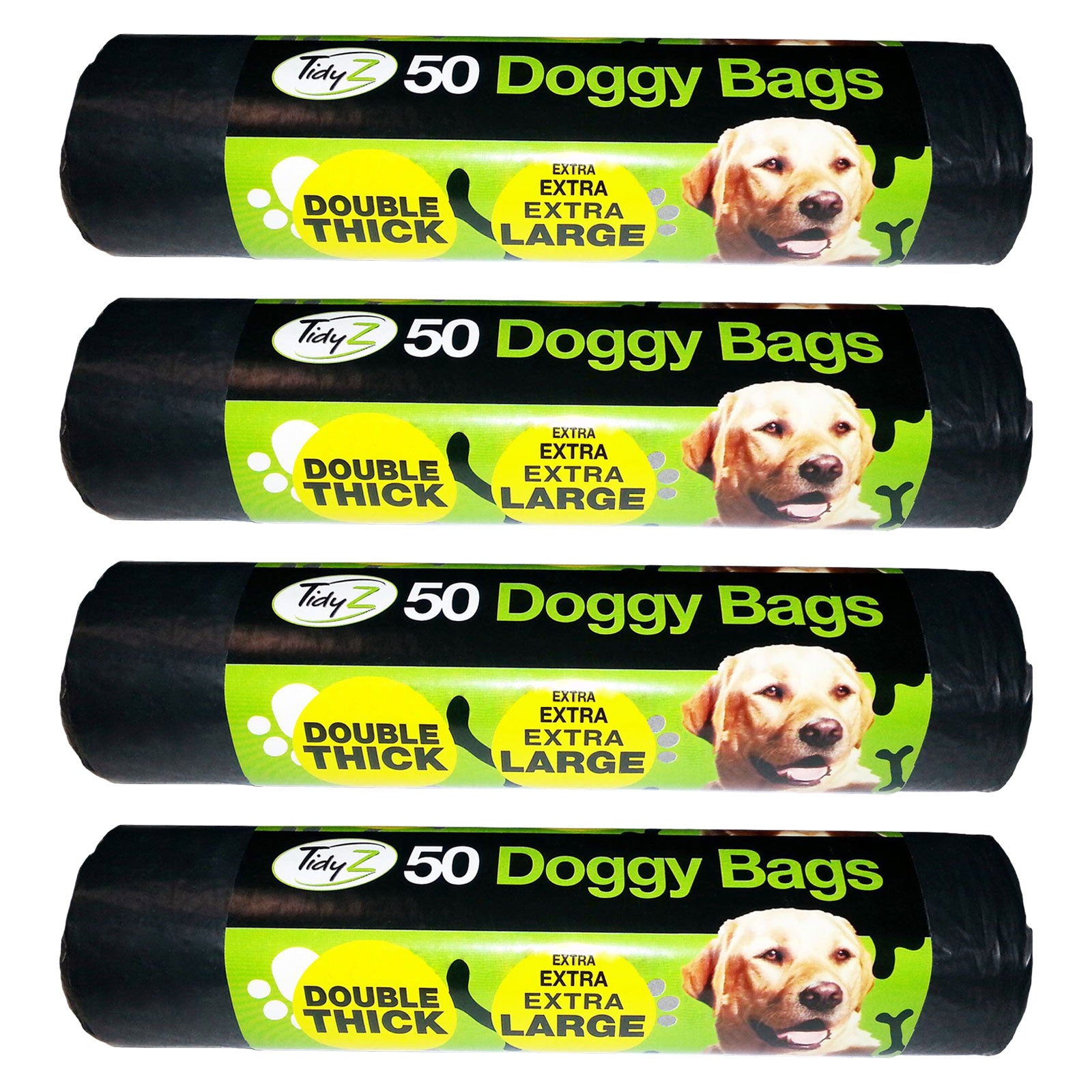 TidyZ 50 Doggy Bags Extra Large Double Thick Strong Dog Cat Pet Poo Waste Bags