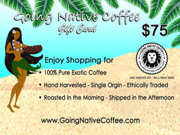 $75 Going Native Gift Card