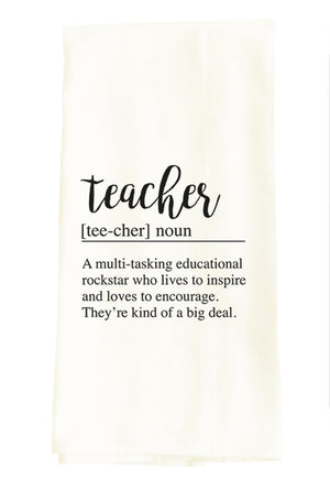TEA TOWEL: TEACHER DEFINITION