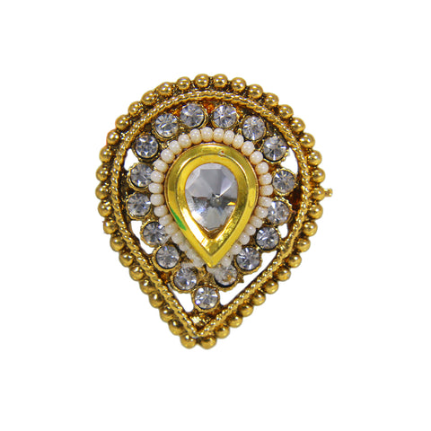 OyeTrend Designer Kundan Ring For Girls