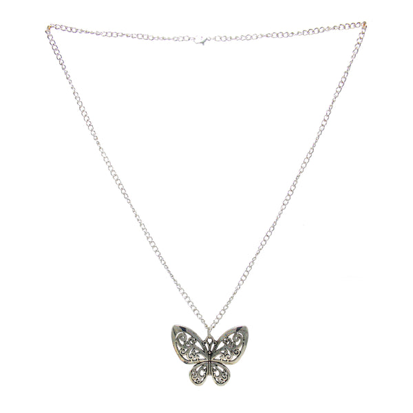 OyeTrend Silver Butterfly Design Alloy Fashion Pendant
