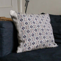 Ikat Decorative Pillow covers. Grey Blue Red Cushion Cover