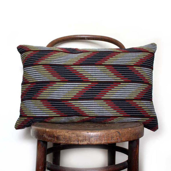 Chevron Grey Black Cushion Cover from Kimono