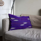 Purple Arrows silk kimono cushion cover fits 60x40cm