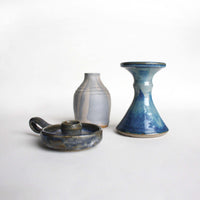 Vintage Pottery Candleholders. Instant collection of three