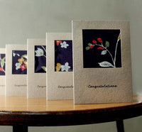 Handmade Greeting Cards with Vintage Silk.