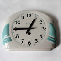 1950s French wall clock, art deco /modern