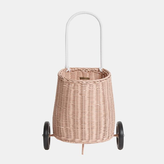 Olli Ella Luggy Basket - Rose-Storage-BabyDonkie