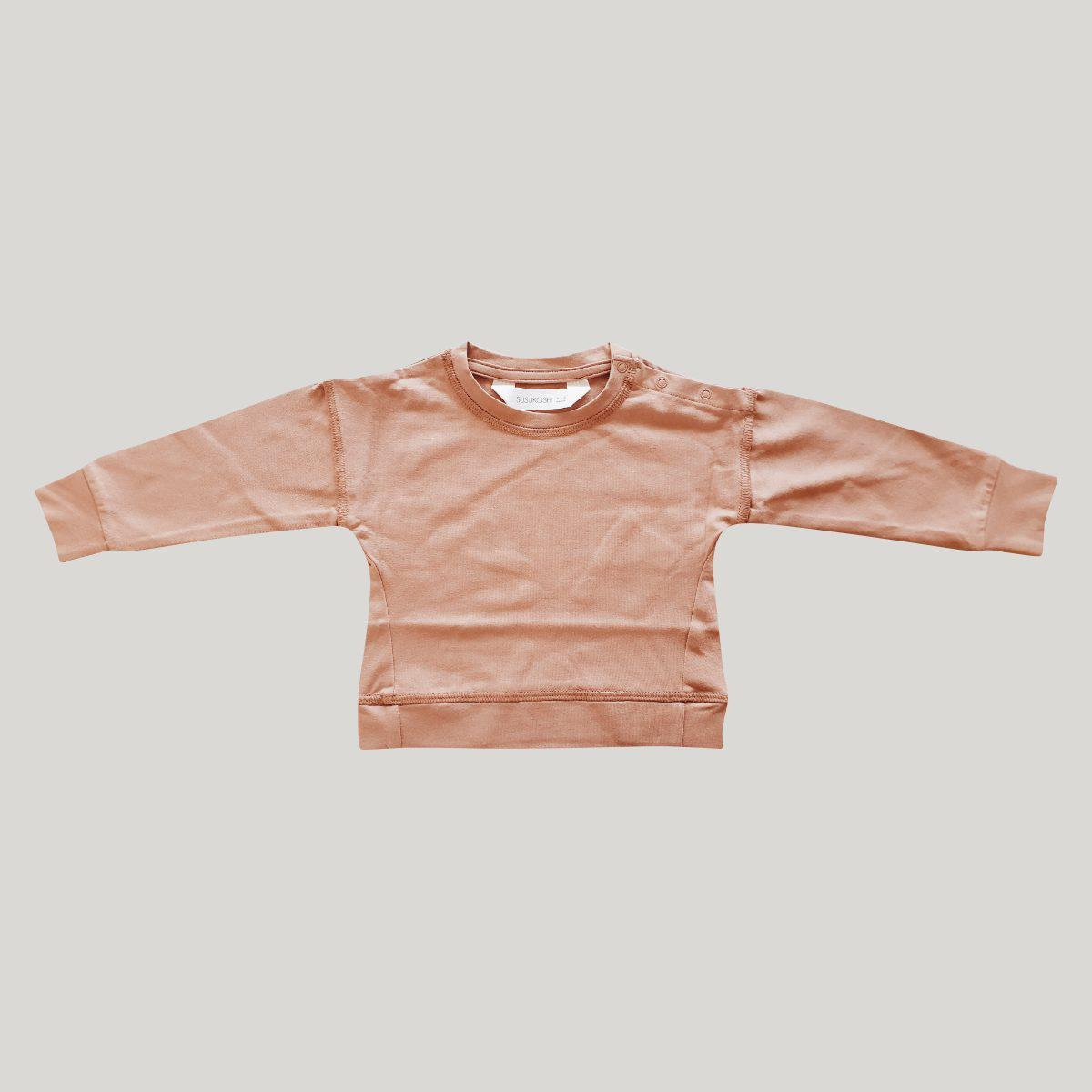 Susukoshi Baby Pullover Jumper - Coral-Clothing-BabyDonkie