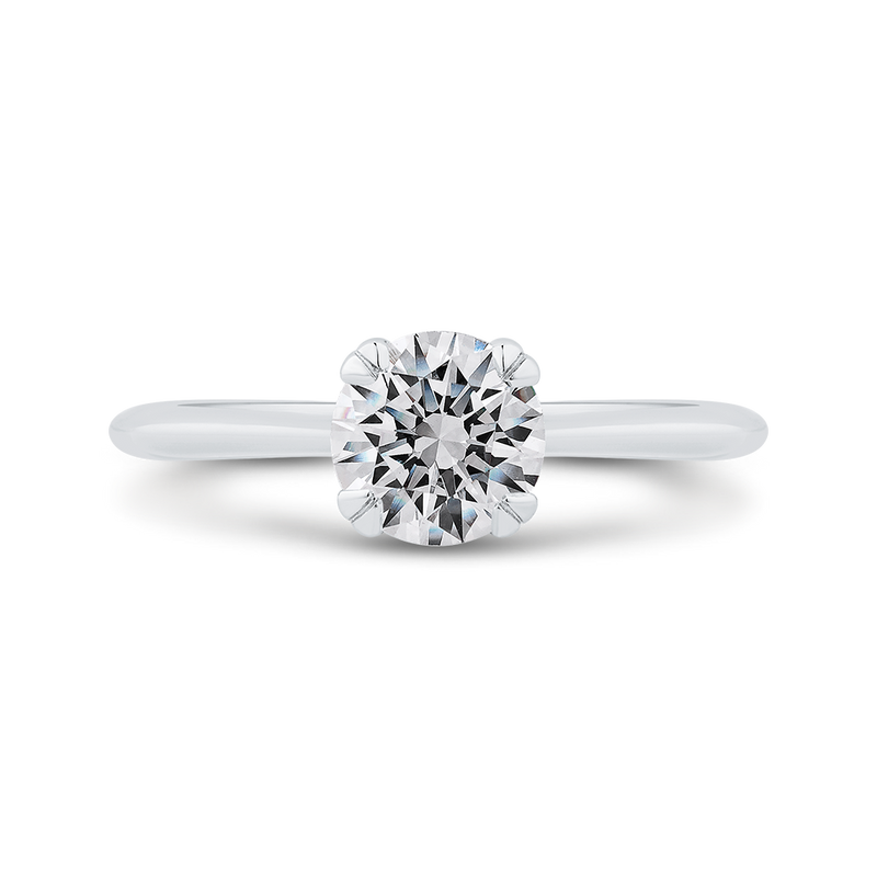 CA0502E-W-1.00 Bridal Jewelry Carizza White Gold Round Solitaire Engagement Rings
