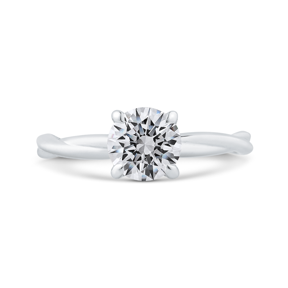 CA0516E-W-1.00 Bridal Jewelry Carizza White Gold Round Solitaire Engagement Rings