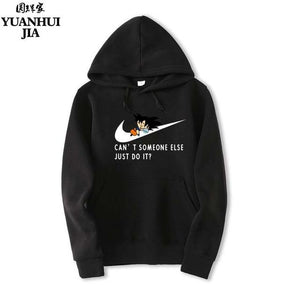 YUANHUIJIA ,JUST DO IT New Men Hoodies Anime Dragonball Sweatshirt Hip-Hop Boy Hoodies The M-XXL-noashe