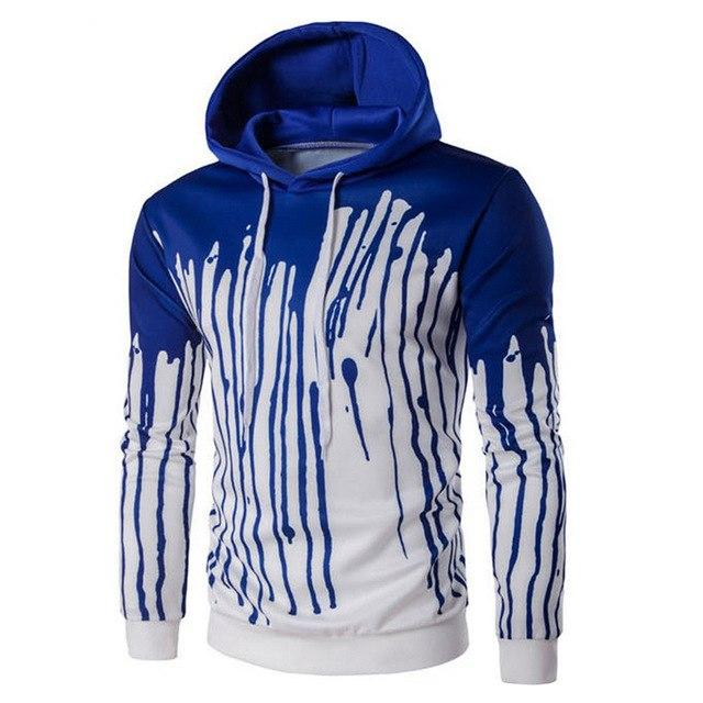 Men's Autumn Fashion Casual Long Sleeve Hoodie Sweatshirt Drawstring Top-noashe