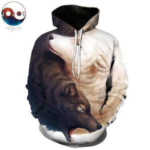 Yin and Yang Wolves by JoJoesArt 3D Wolf Hoodies Brand Hoodie Men Sweatshirt Unisex Wolf Male Pullover Fashion Casual Tracksuits-noashe