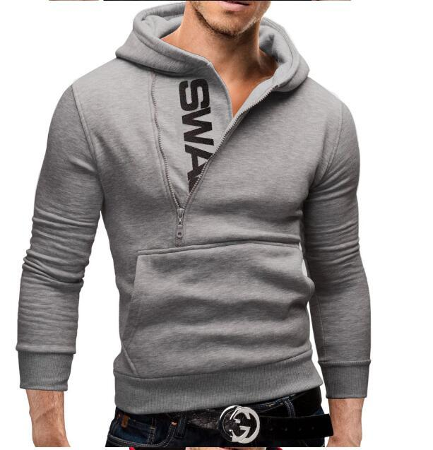 Side zip hit color Fashion Hoodies Men Hip Hop Mens Brand Solid hooded zipper Hoodie Cardigan Sweatshirt Slim Fit Men Hoody-noashe