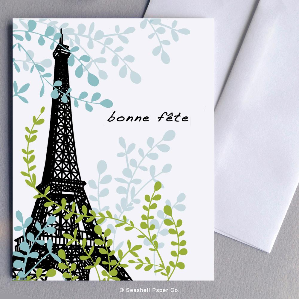 French Birthday Eiffel Tower Card Wholesale (Package of 6)