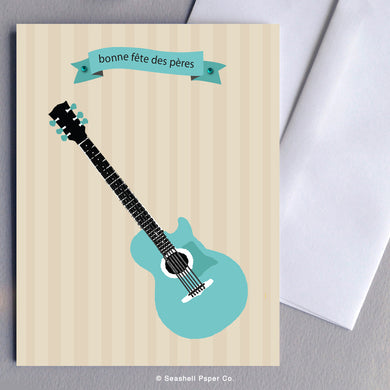 French Father's Day Guitar Card Wholesale (Package of 6)