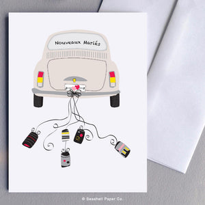 Wedding Car French Card Wholesale (Package of 6)