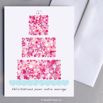 Wedding Cake French Card Wholesale (Package of 6)