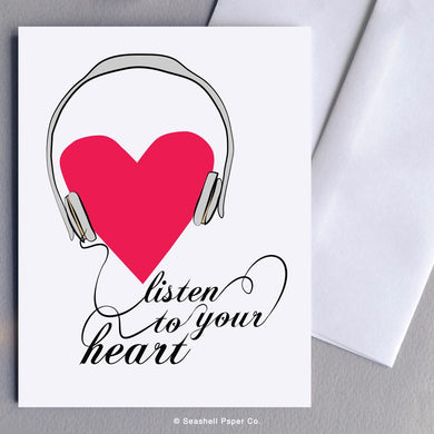 Love Listen To your Heart Card Wholesale (Package of 6)