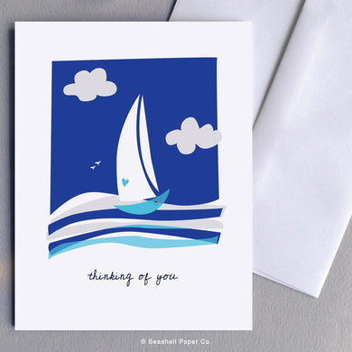 Love Thinking Of You Boat Card Wholesale (Package of 6)