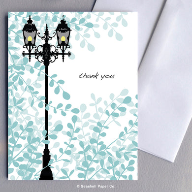 Greeting Cards, Lamppost, Lamppost Card, Lamppost Greeting Card, Thank You, Thank You Greeting Card, Lamppost Thank You Greeting Card, Vintage Lamppost, Vintage Lamppost Greeting Card, Vintage Lamppost Thank You Greeting Card, Lamppost Thank You Card Greeting Card, Seashell Paper Co., Made in Canada, Sale