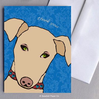 Greeting Cards, Thank You Cards, Thank You Greeting Cards, Dog, Dog Card, Dog Greeting Card, Doggie, Doggie Card, Doggie Greeting Card, Doggie Thank you Card, Doggie Thank You Greeting Card, Doggy, Doggy Card, Doggy Thank you Card, Doggy Thank You Greeting Card, Seashell Paper Co., Stationary, Made in Canada, Sale