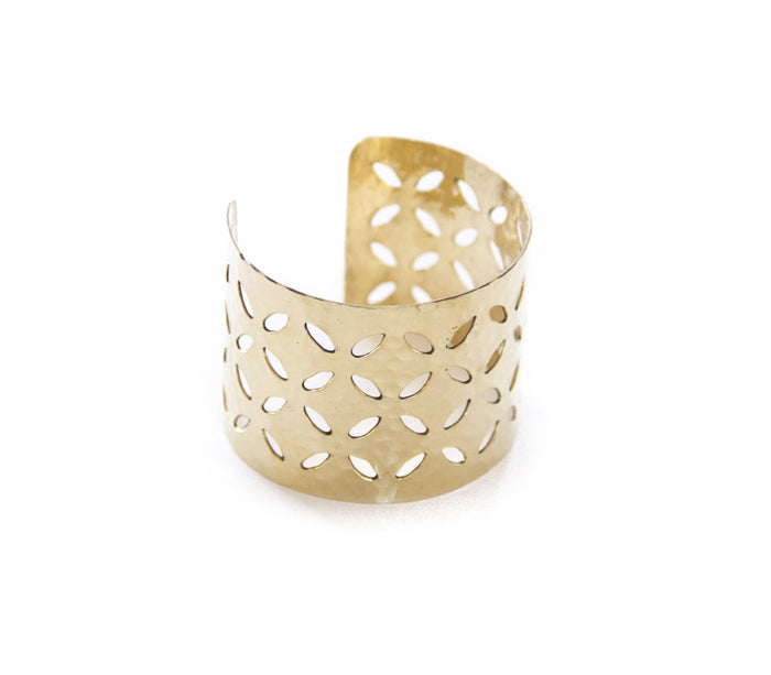 Brass Punch Cuff