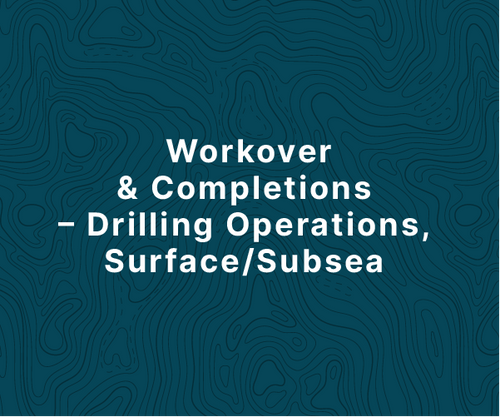 Workover & Completions - Drilling Operations, Surface/Subsea