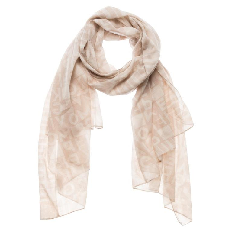 Yaya Printed Scarf - Cream
