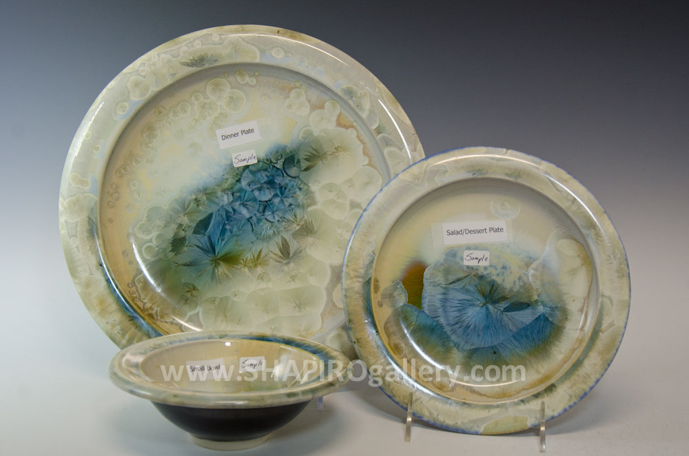 Crystal Glaze Three Piece Place Setting - 4 Sets