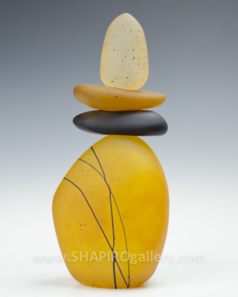 Yellow Blown Glass Cairn